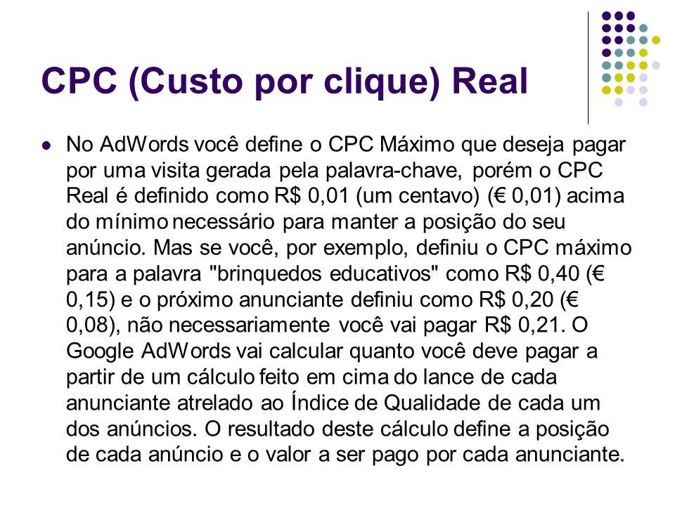 CPC (Custo por clique) Real