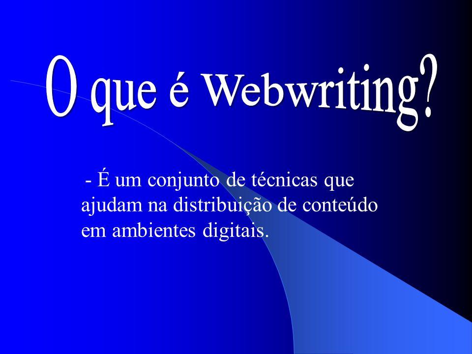 O que é Webwriting.