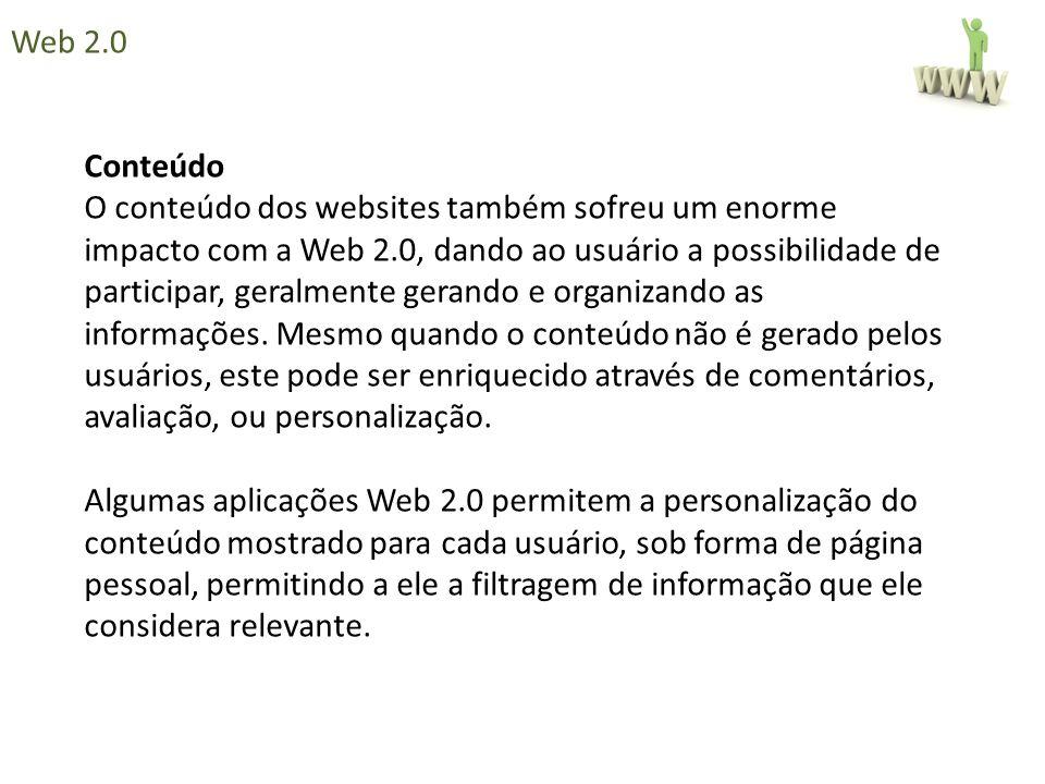 Web 2.0 Conteúdo.