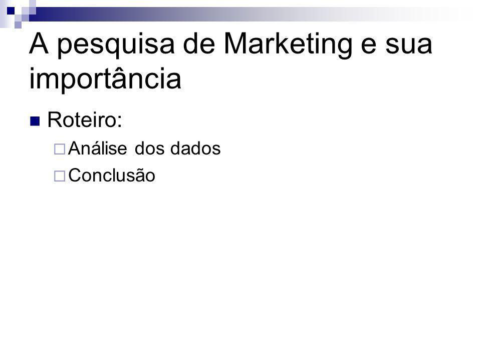 A pesquisa de Marketing e sua importância
