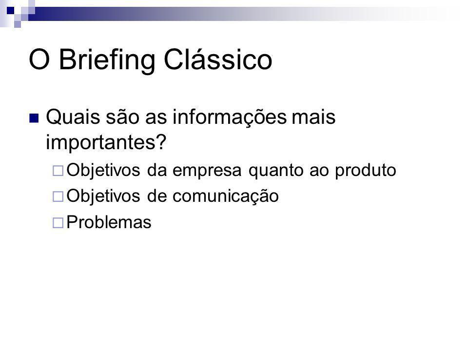 O Briefing Clássico Quais são as informações mais importantes