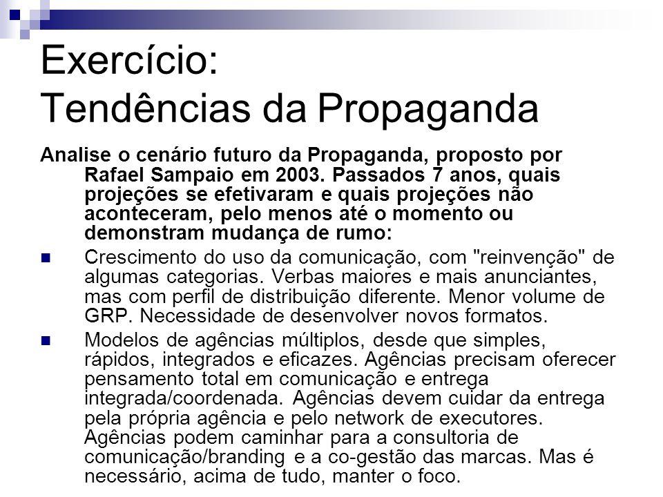 Exercício: Tendências da Propaganda