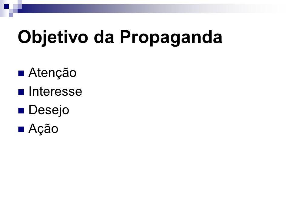 Objetivo da Propaganda