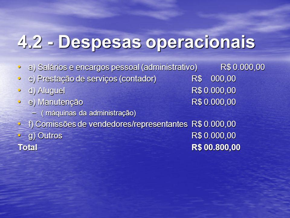 4.2 - Despesas operacionais