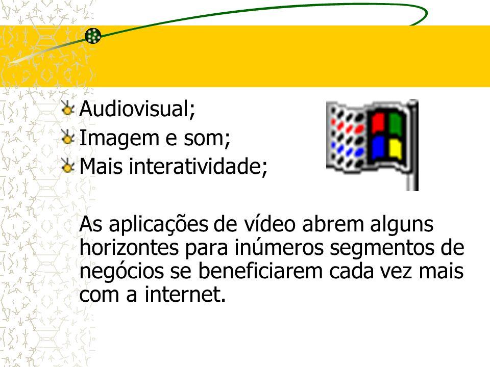 Audiovisual; Imagem e som; Mais interatividade;