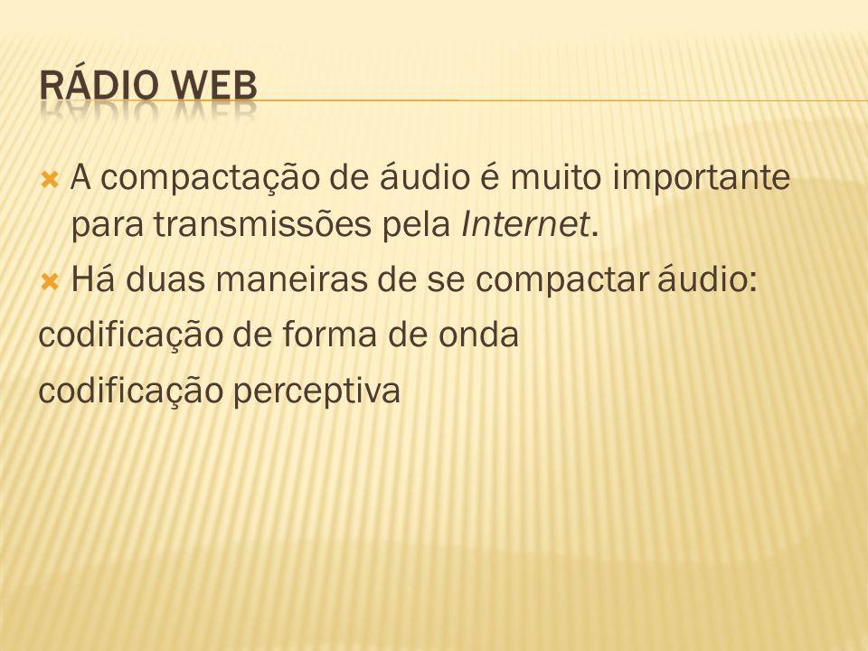 A compactação de áudio é muito importante para transmissões pela Internet.