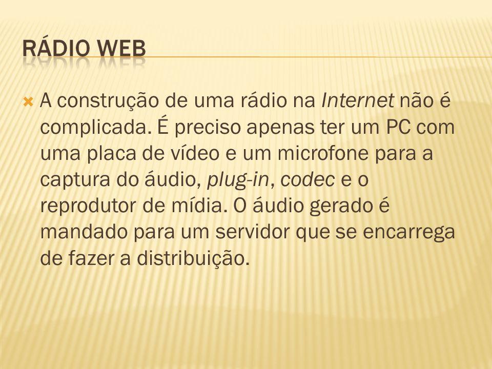 A construção de uma rádio na Internet não é complicada
