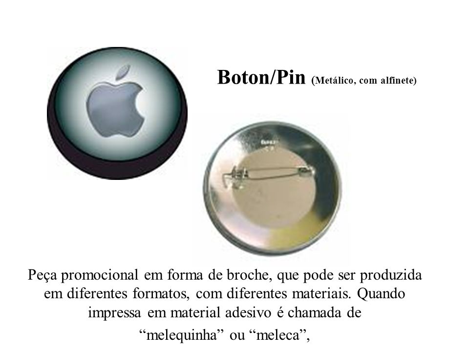 Boton/Pin (Metálico, com alfinete)
