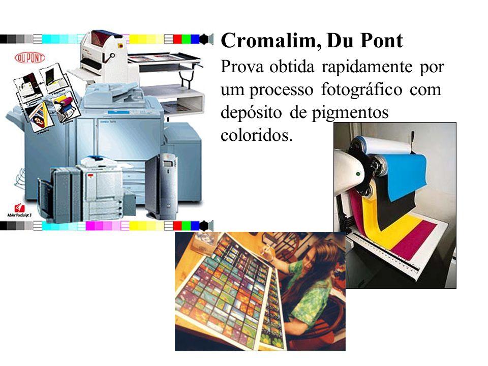 Cromalim, Du Pont Prova obtida rapidamente por um processo fotográfico com depósito de pigmentos coloridos.