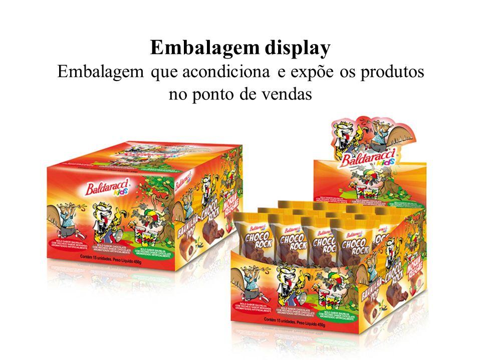 Embalagem display Embalagem que acondiciona e expõe os produtos no ponto de vendas
