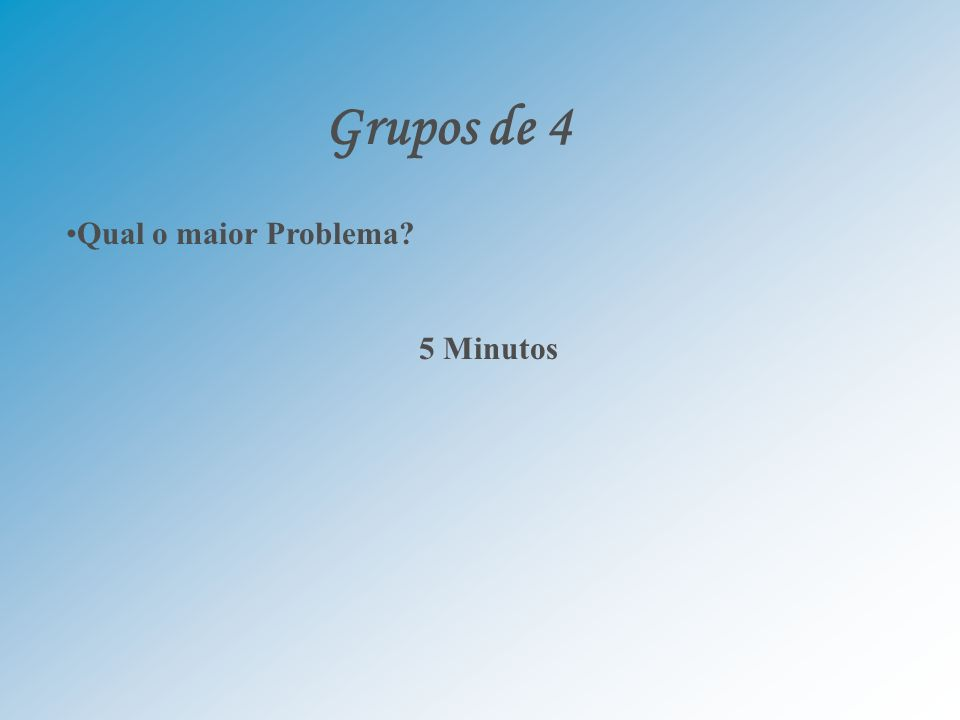 Grupos de 4 Qual o maior Problema 5 Minutos