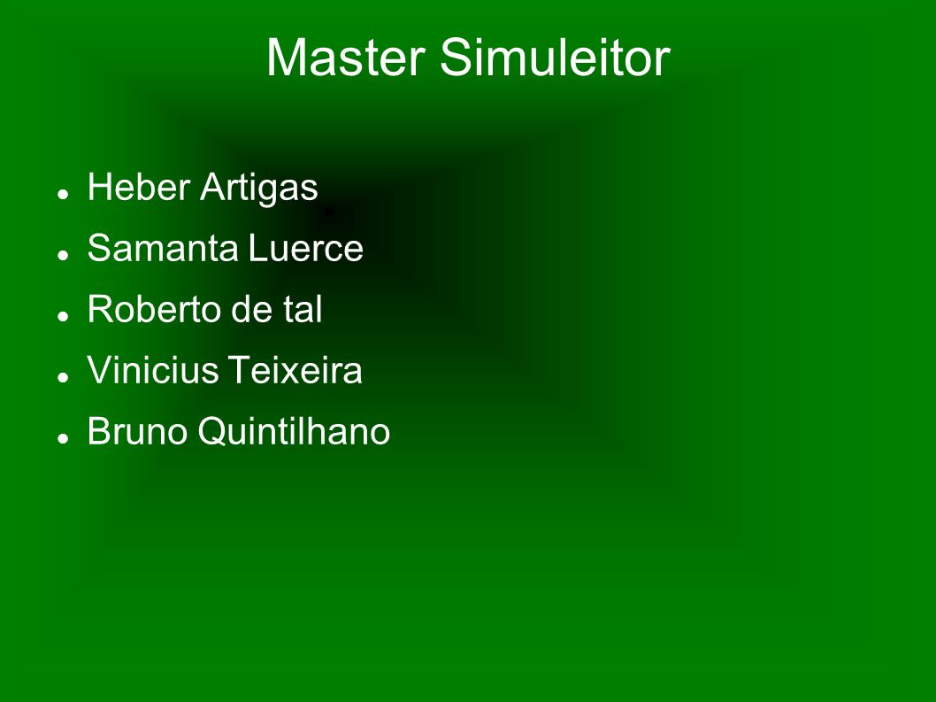 Master Simuleitor Heber Artigas Samanta Luerce Roberto de tal