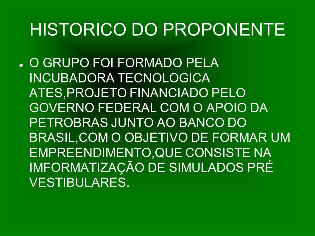 HISTORICO DO PROPONENTE