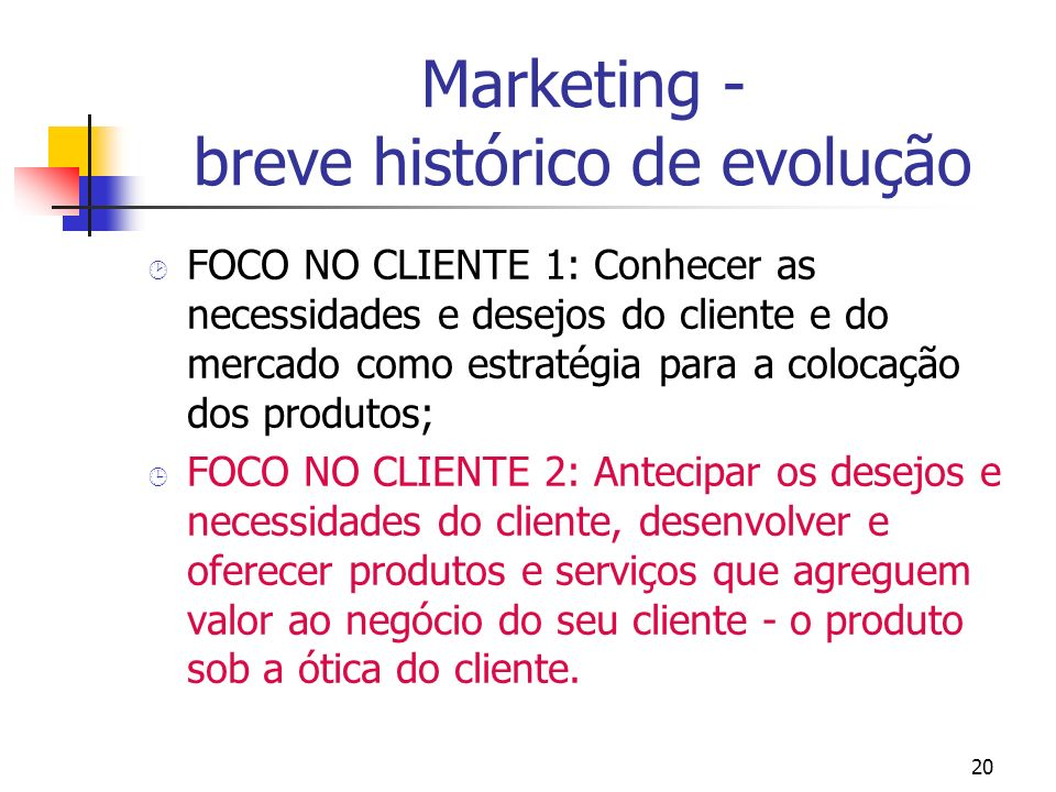 Marketing - breve histórico de evolução