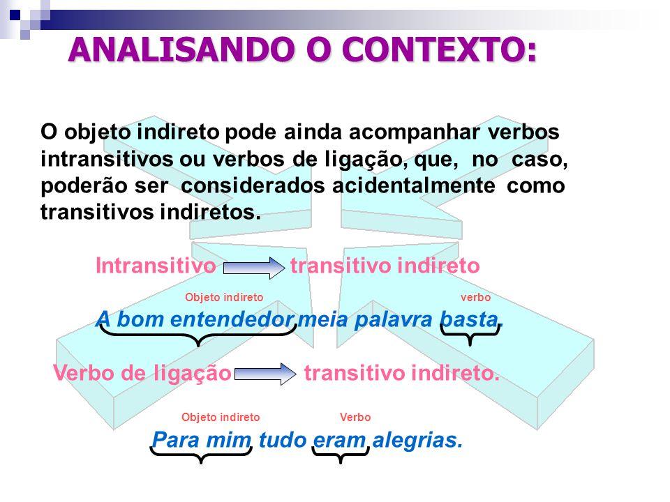 ANALISANDO O CONTEXTO: