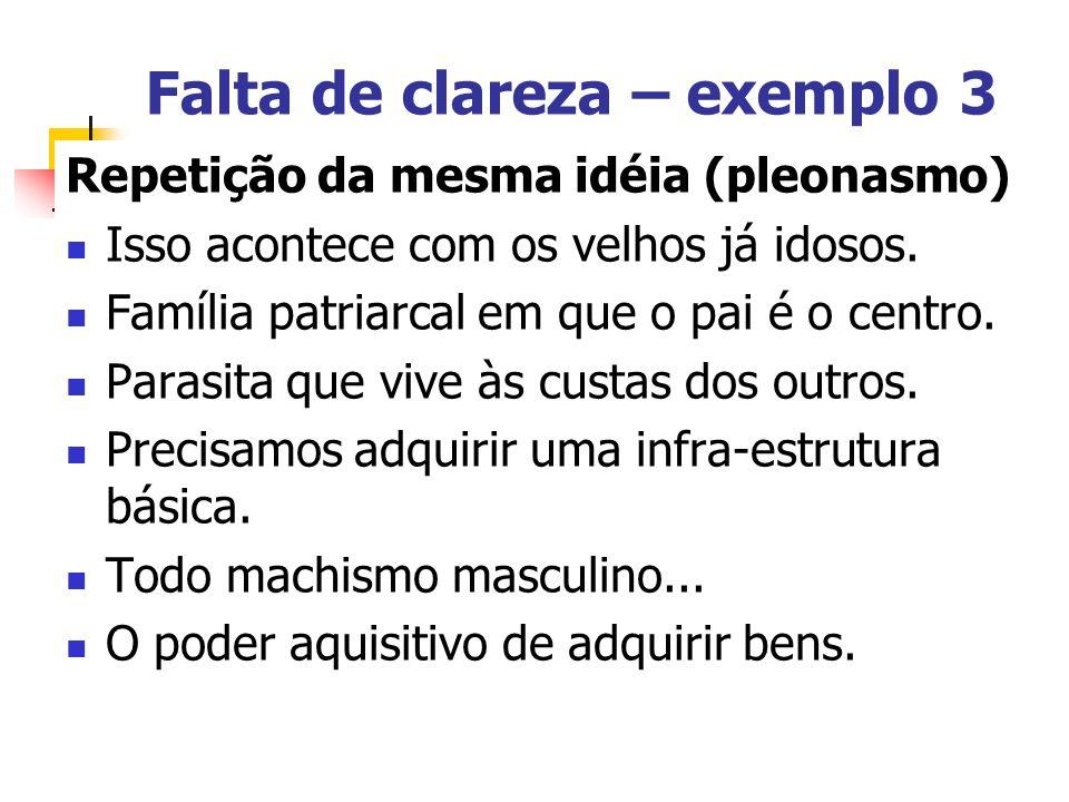 Falta de clareza – exemplo 3
