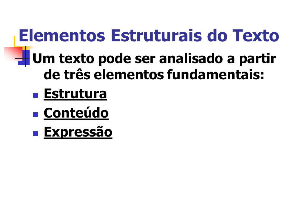 Elementos Estruturais do Texto