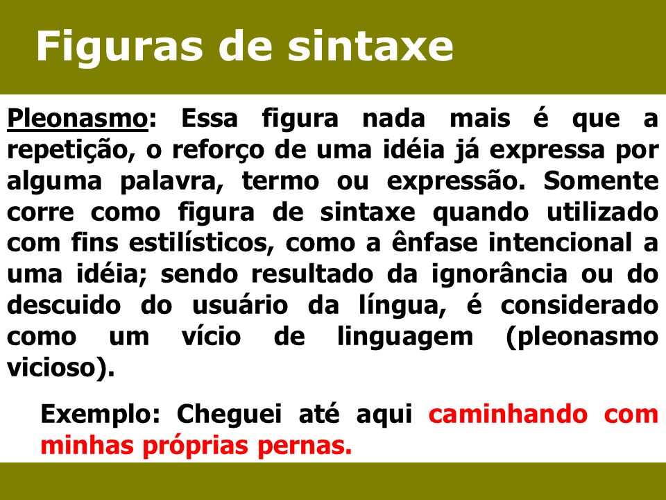 Figuras de sintaxe