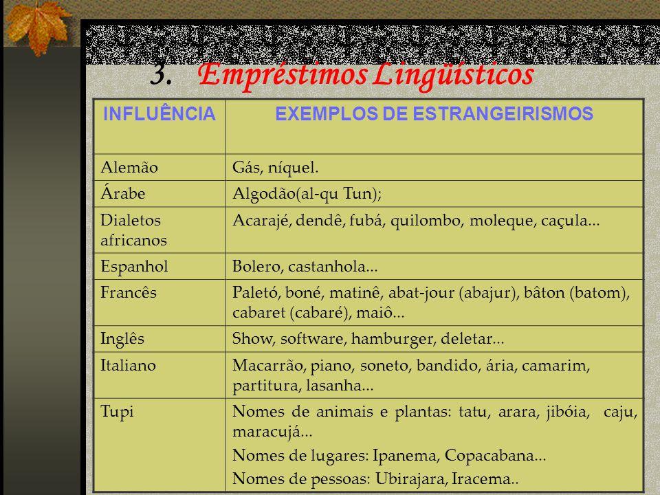 3. Empréstimos Lingüísticos