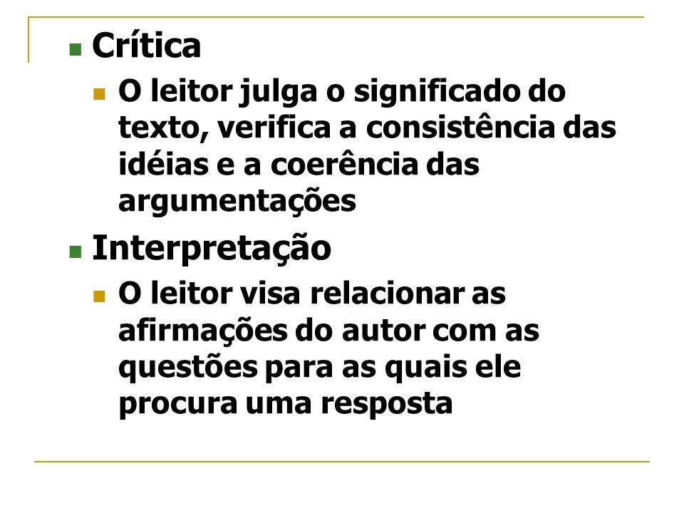 Crítica Interpretação