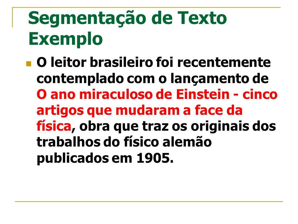 Segmentação de Texto Exemplo