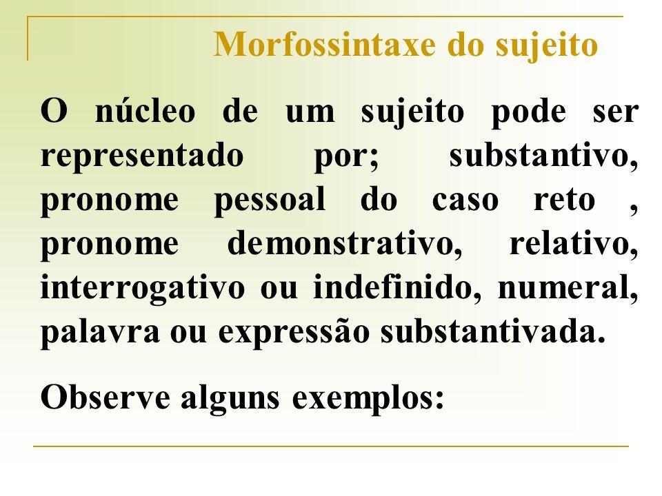 Morfossintaxe do sujeito