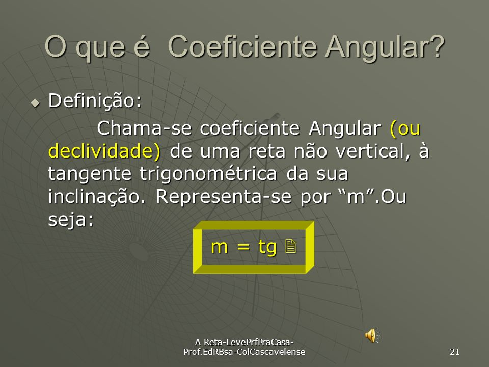 O que é Coeficiente Angular
