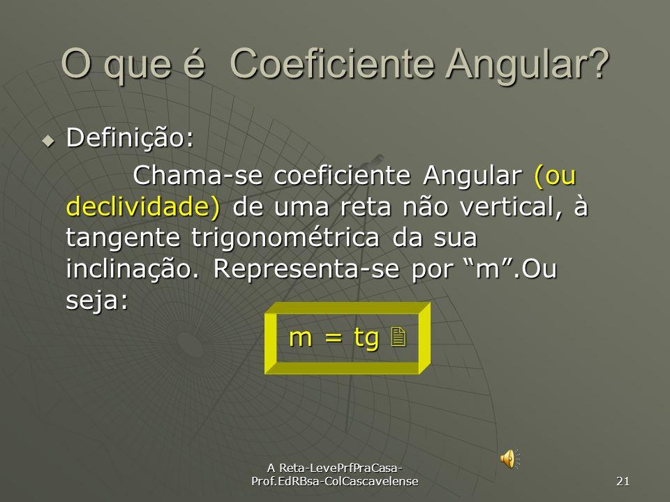 O que é Coeficiente Angular