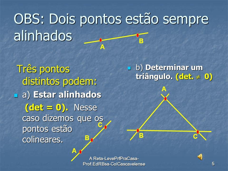 OBS: Dois pontos estão sempre alinhados