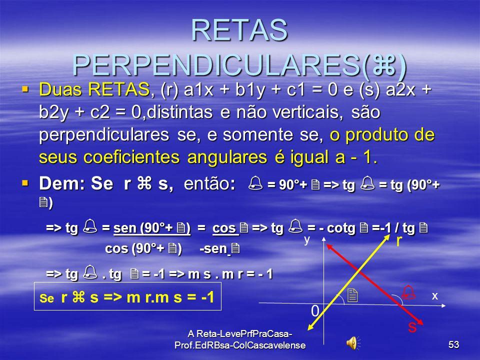 RETAS PERPENDICULARES()