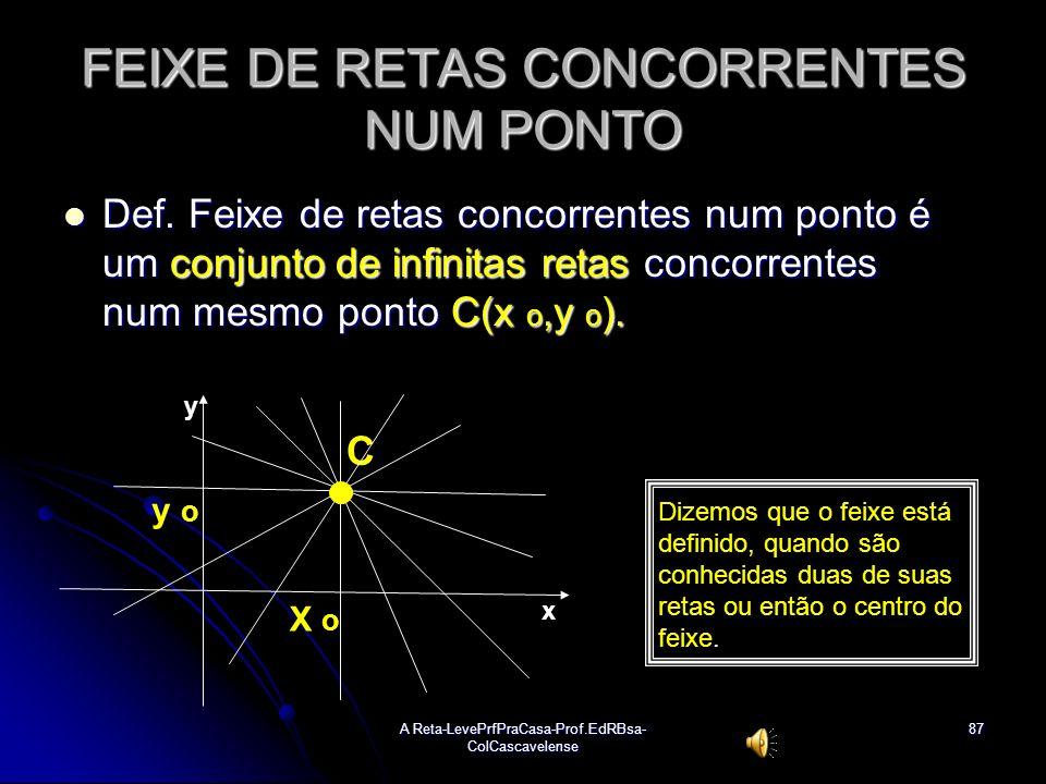 FEIXE DE RETAS CONCORRENTES NUM PONTO