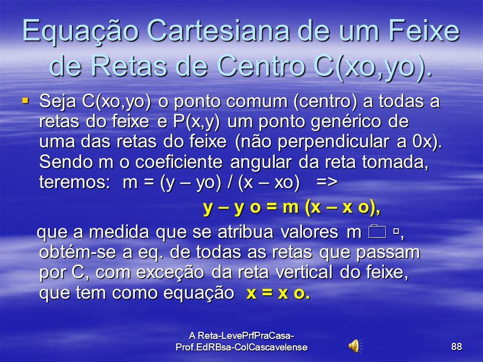 Equação Cartesiana de um Feixe de Retas de Centro C(xo,yo).