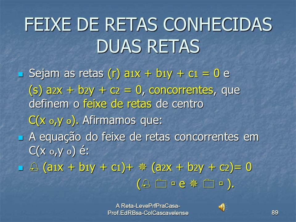 FEIXE DE RETAS CONHECIDAS DUAS RETAS