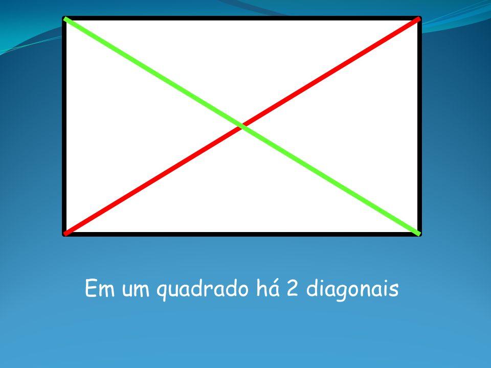 Em um quadrado há 2 diagonais