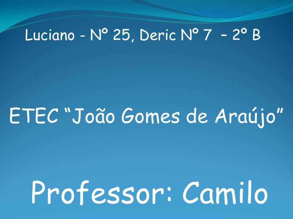 Professor: Camilo ETEC João Gomes de Araújo