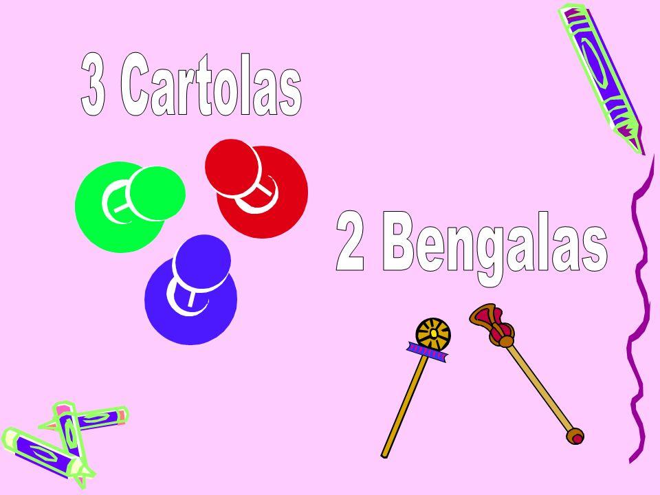 3 Cartolas 2 Bengalas