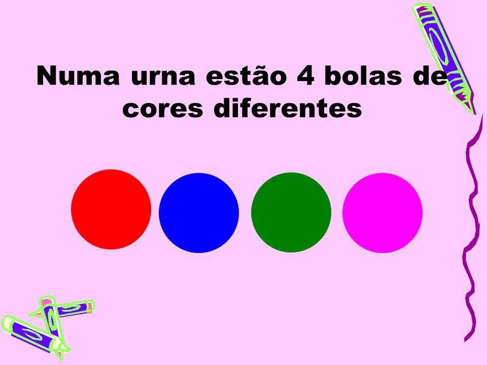 Numa urna estão 4 bolas de cores diferentes