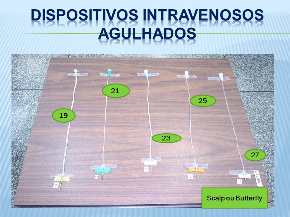 Dispositivos Intravenosos Agulhados