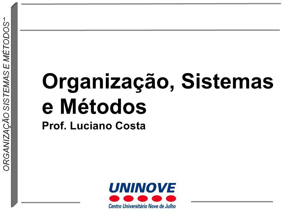 Organização, Sistemas e Métodos Prof. Luciano Costa