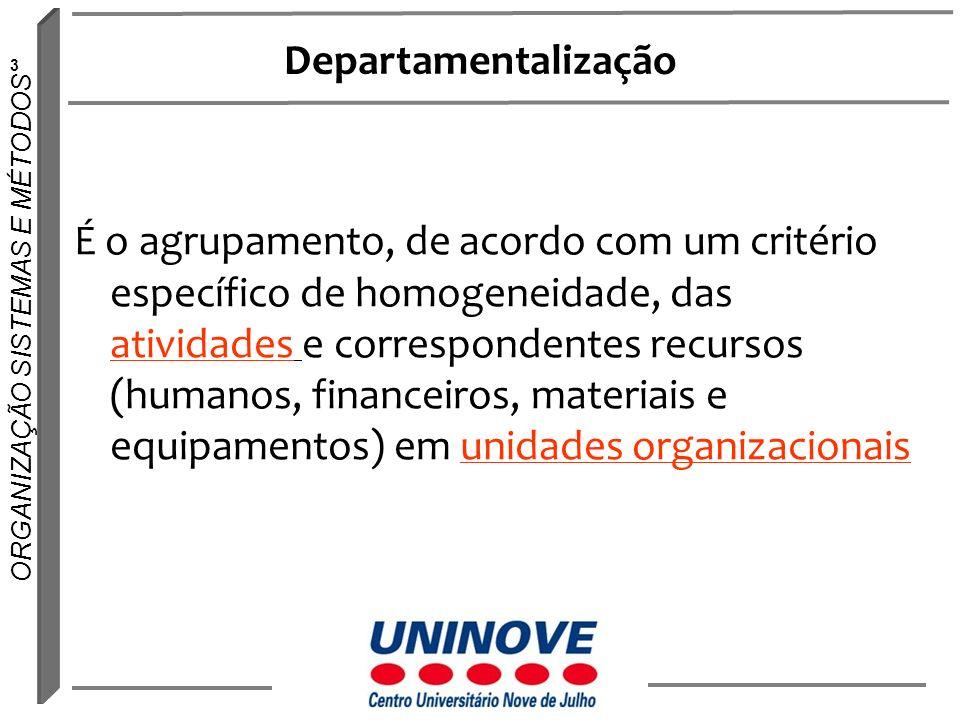 Departamentalização