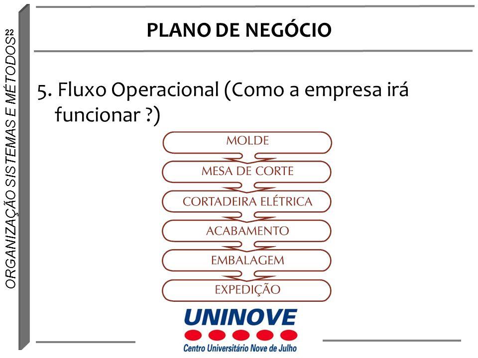 PLANO DE NEGÓCIO 5. Fluxo Operacional (Como a empresa irá funcionar )