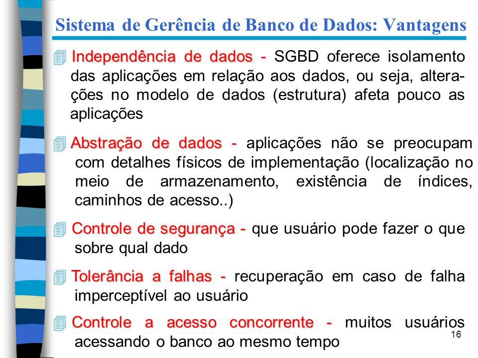 Sistema de Gerência de Banco de Dados: Vantagens