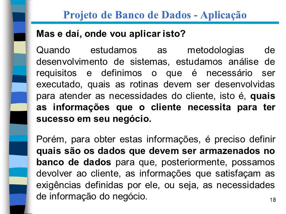 Projeto de Banco de Dados - Aplicação