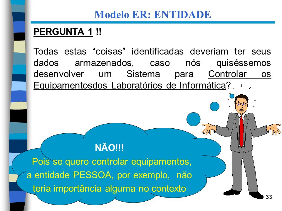 Modelo ER: ENTIDADE PERGUNTA 1 !!