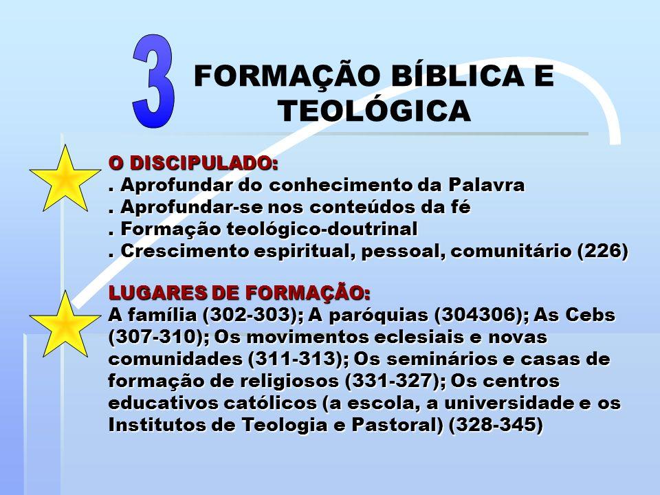 FORMAÇÃO BÍBLICA E TEOLÓGICA