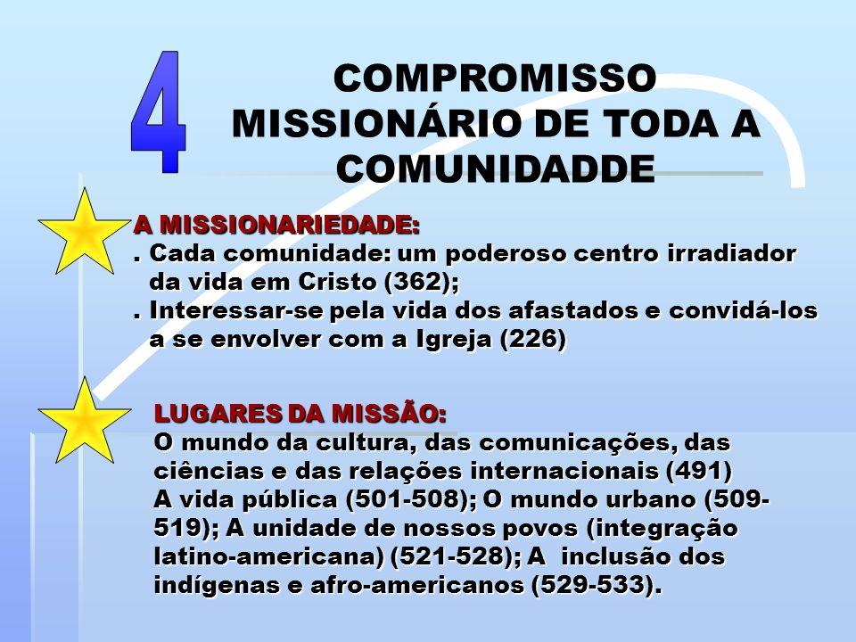 COMPROMISSO MISSIONÁRIO DE TODA A COMUNIDADDE