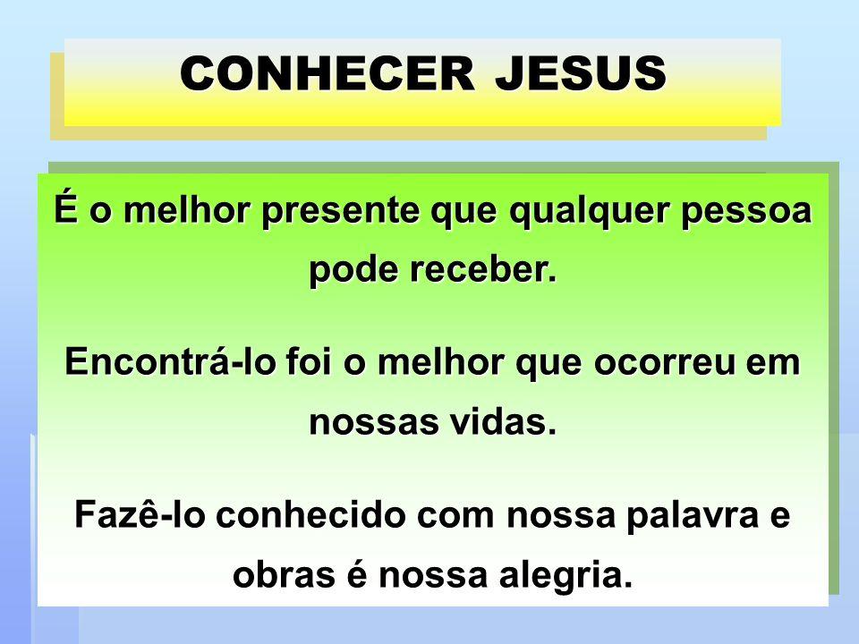 CONHECER JESUS