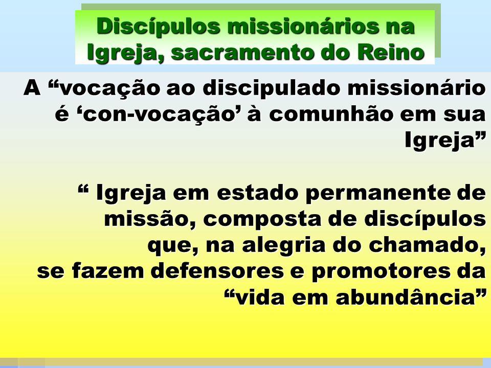 Discípulos missionários na Igreja, sacramento do Reino