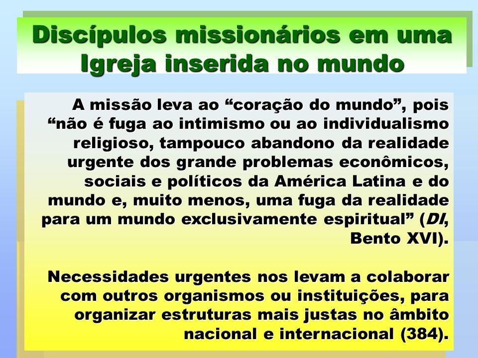 Discípulos missionários em uma Igreja inserida no mundo