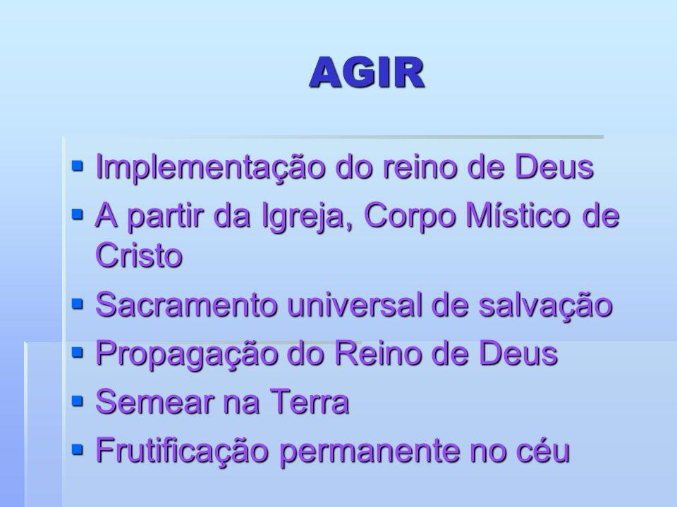 AGIR Implementação do reino de Deus